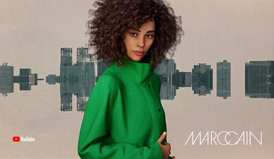 Reality meets VR - O primeiro desfile de moda virtual / filme de moda de MarcCain